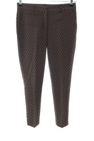 Darling Harbour Pantalone jersey marrone-nero motivo a pallini stile casual