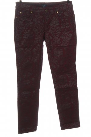 Darling Harbour Straight Leg Jeans red-bronze-colored allover print elegant