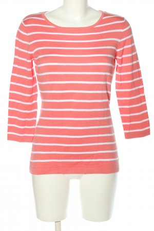 Darling Harbour Strickpullover pink-weiß Streifenmuster Casual-Look