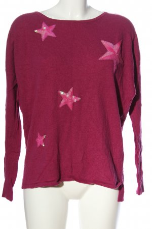 Darling Harbour Strickpullover pink-rot Zopfmuster Casual-Look