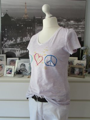 Darling Harbour * Süßes V-Neck Shirt * zart flieder Peaceprint * XL=40/42