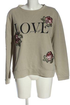 Darling Harbour Sweat Shirt khaki flower pattern casual look