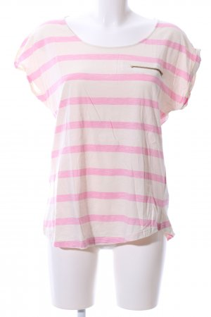 Darling Harbour T-Shirt creme-pink Streifenmuster Casual-Look
