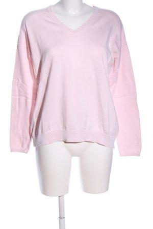 Darling Harbour Maglione con scollo a V rosa stile casual