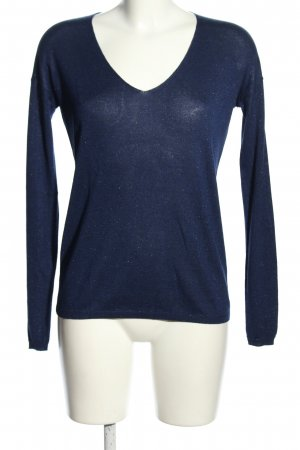 Darling Harbour V-Neck Sweater blue flecked casual look