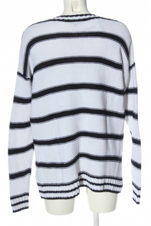 Darling Harbour V-Neck Sweater white-black striped pattern casual look