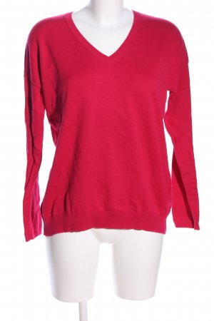 Darling Harbour V-Ausschnitt-Pullover rot Casual-Look