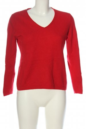Darling Harbour V-Neck Sweater red casual look