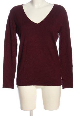 Darling Harbour V-Ausschnitt-Pullover rot Casual-Look