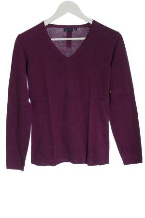 Darling Harbour V-Ausschnitt-Pullover lila Casual-Look