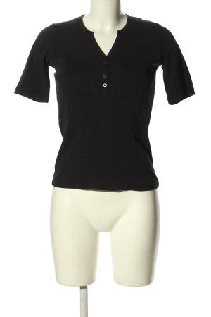 Darling Harbour V-Ausschnitt-Shirt schwarz Casual-Look