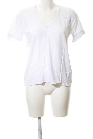 Darling Harbour V-Ausschnitt-Shirt weiß Casual-Look
