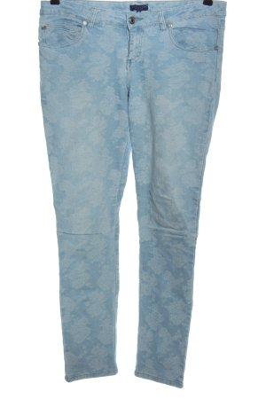 Darling Dopasowane jeansy niebieski Na całej powierzchni W stylu casual