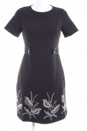 Darling Shortsleeve Dress black flower pattern casual look
