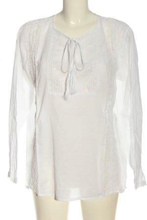 Darling Bluzka z długim rękawem biały W stylu biznesowym