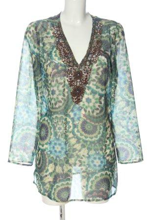 Darling Langarm-Bluse abstraktes Muster Casual-Look