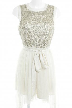 Darling Mini Dress cream-gold-colored party style