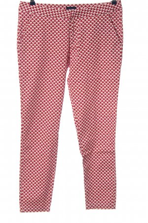 Darling Stoffhose rot-weiß Allover-Druck Casual-Look
