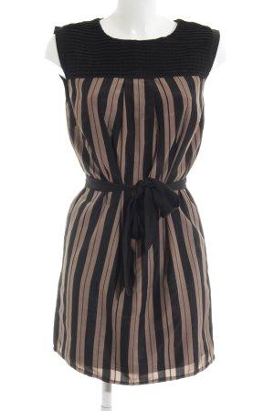 Darling Trägerkleid schwarz-bronzefarben Streifenmuster Casual-Look