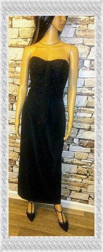 Niente Sukienka gorsetowa czarny Tkanina z mieszanych włókien