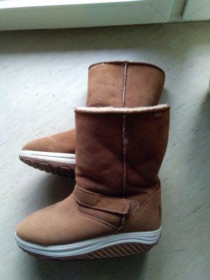 Skechers Futrzane buty camel