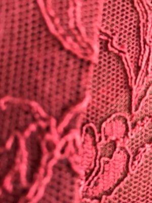 Nicowa Koronkowa bluzka głęboka czerwień