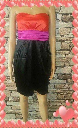Ann Christine Sukienka gorsetowa czarny-różowy Tkanina z mieszanych włókien