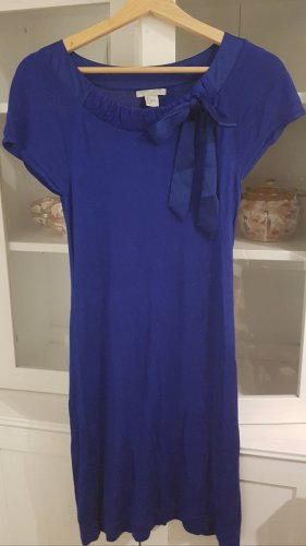 H&M Vestido ceñido de tubo azul tejido mezclado