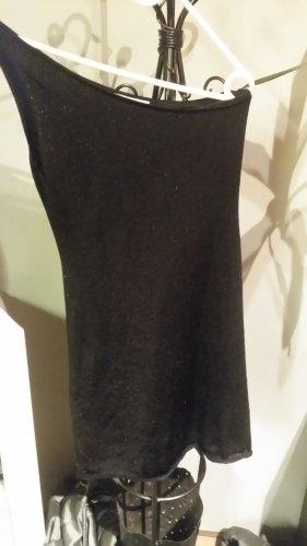Zara Vestido de un hombro negro