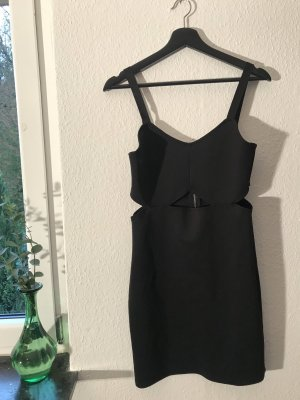 H&M Abito cut out nero