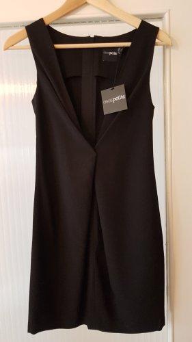 Asos Petite Robe de soirée noir tissu mixte