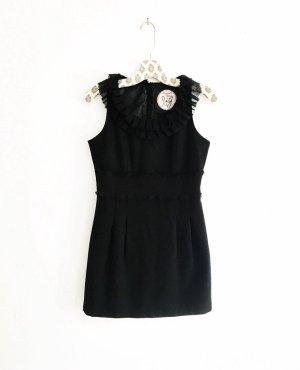 das kleine schwarze • wollkleid • mini • vintage