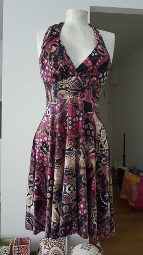 Unbekannte Marke Sukienka z dekoltem typu halter Wielokolorowy