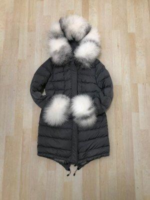 Daunen Jacke mit Fuchsfell