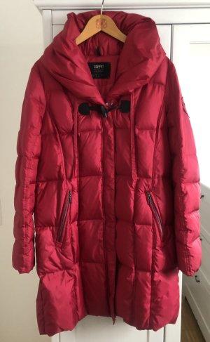 Esprit Manteau en duvet rouge framboise