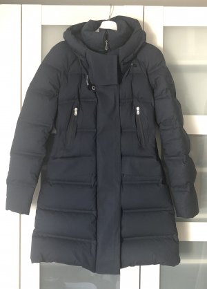 Peuterey Down Coat dark blue cotton