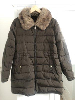 Massimo Dutti Down Coat khaki