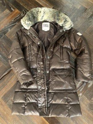 Think Pink Down Coat black brown mixture fibre