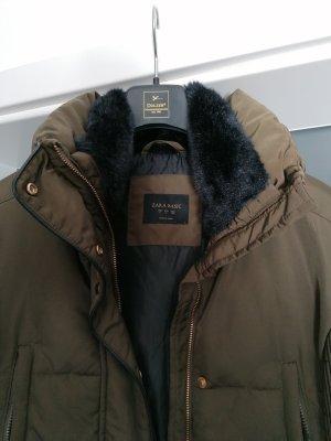 Zara Kurtka zimowa czarny-zielono-szary
