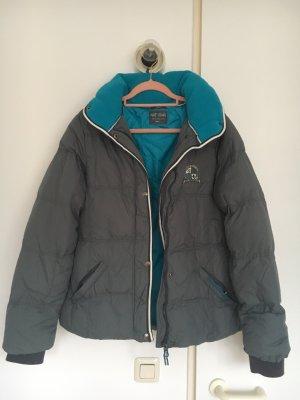 Down Jacket dark grey-cornflower blue