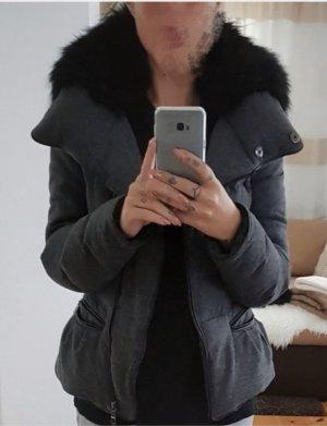 Zara Doudoune gris foncé-noir