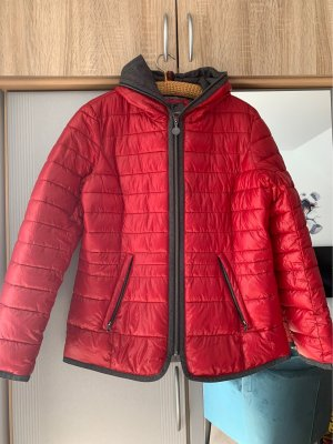 Blue Flame Down Jacket brick red-grey