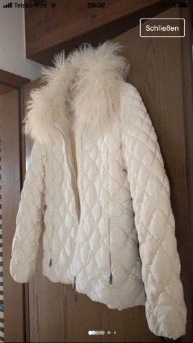 Daunenjacke von Basler mit abnehmbaren Tibetlammfell Kragen