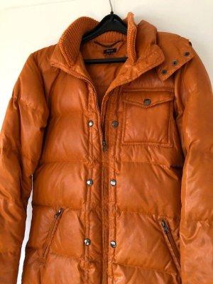 Jones Giacca con cappuccio arancione Tessuto misto