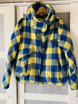 Down Coat yellow-blue cotton