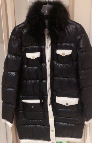 Beayukmui Płaszcz puchowy biały-czarny