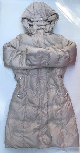 Płaszcz puchowy w kolorze białej wełny-jasnobeżowy