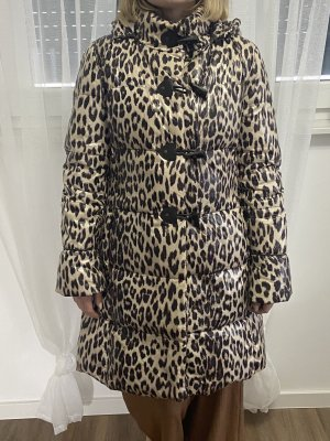 Hallhuber Manteau en duvet noir-crème