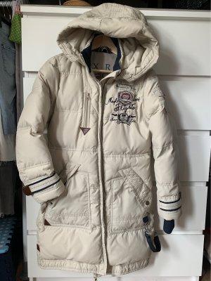 Soccx Abrigo de plumón beige claro-azul oscuro