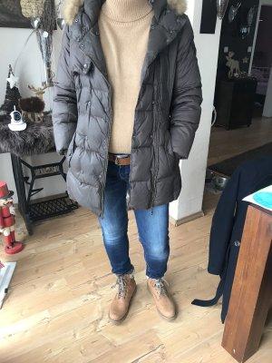 Basefield Płaszcz puchowy ciemnobrązowy